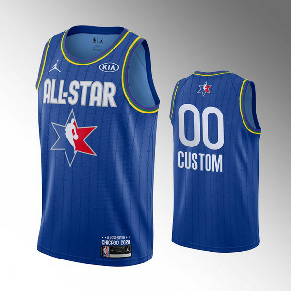 Camiseta Custom No 0 All Star 2020 Hombre Azul