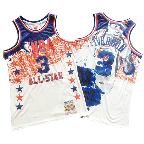 Camiseta Allen Iverson All Star 2003 Mitchell & Ness Hombre Blanco