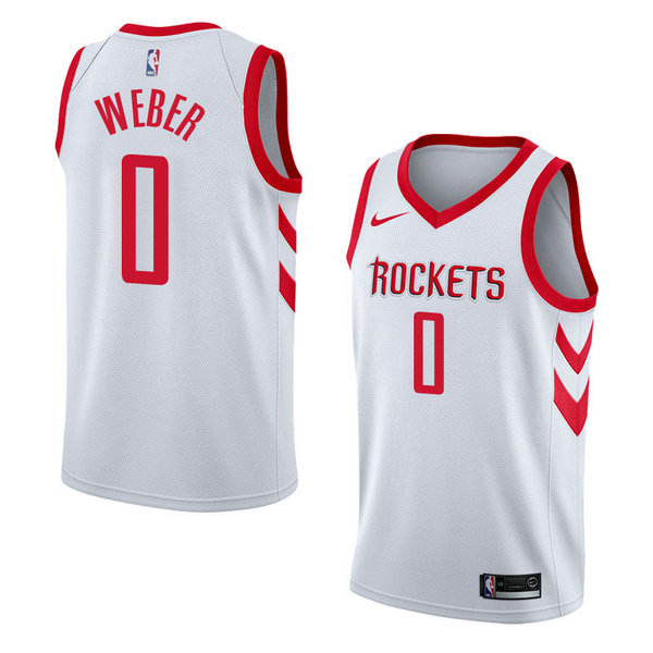 Camiseta Briante Weber Houston Rockets Association 2018 Hombre Blanco