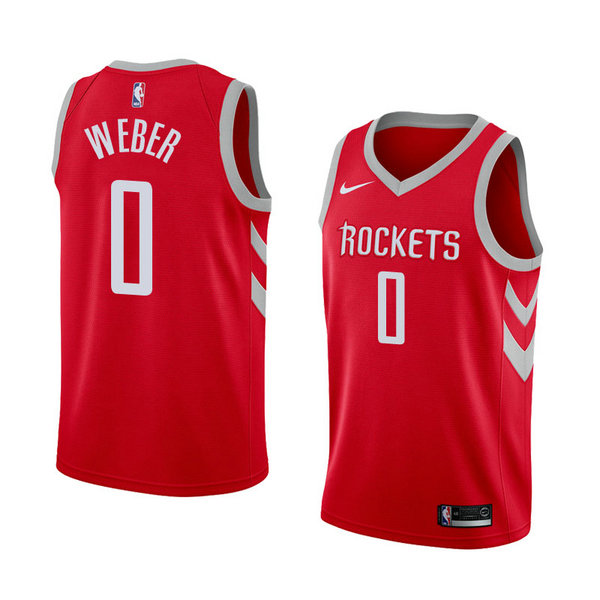 Camiseta Briante Weber Houston Rockets Icon 2018 Hombre Rojo