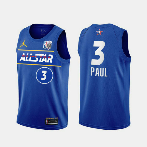 Camiseta Chris Paul No 3 All Star 2021 Hombre azul