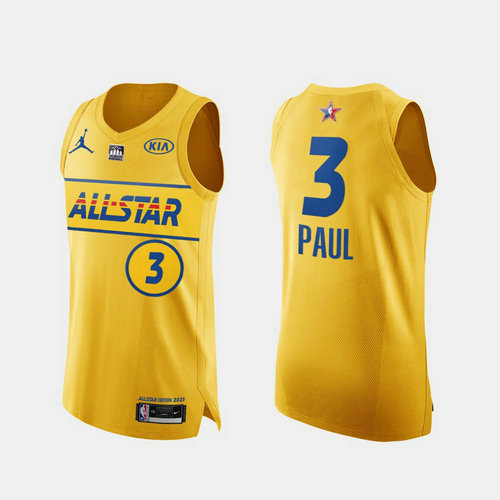 Camiseta Chris Paul No 3 All Star 2021 Hombre oro