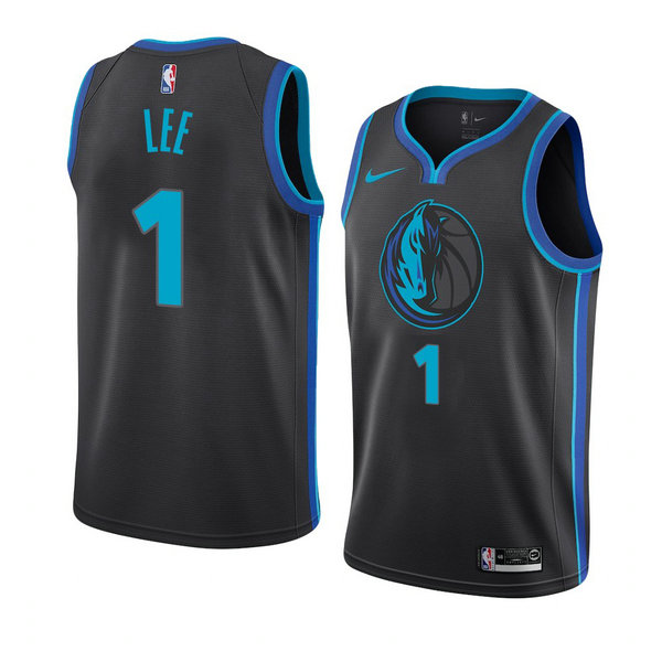 Camiseta Courtney Lee Dallas Mavericks Ciudad 2018-19 Hombre Azul