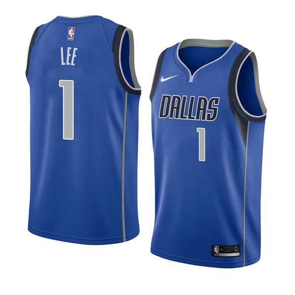Camiseta Courtney Lee Dallas Mavericks Icon 2018 Hombre Azul
