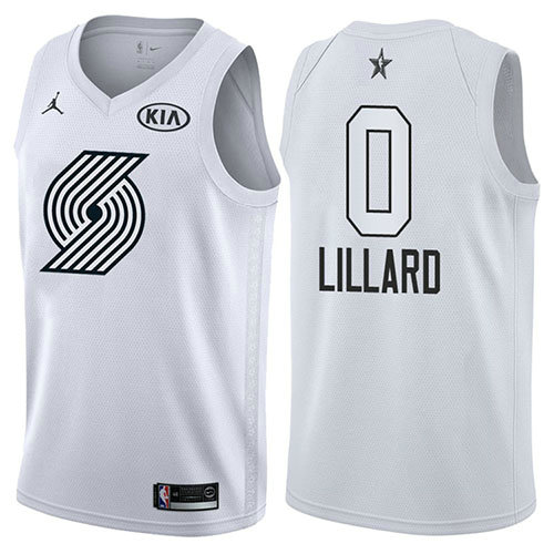 Camiseta Damian Lillard All Star 2018 Hombre Blanco