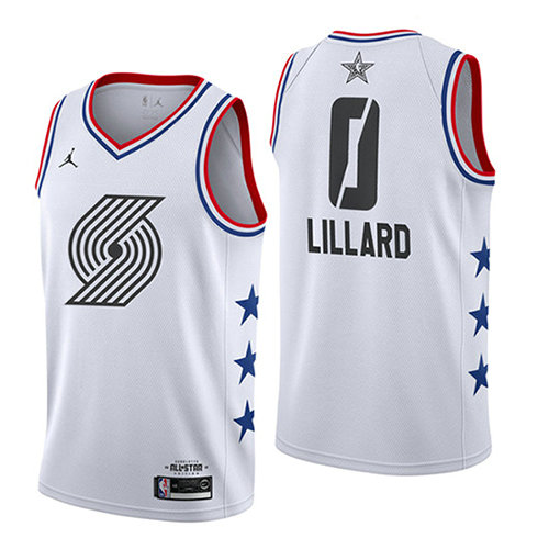 Camiseta Damian Lillard All Star 2019 Hombre Blanco