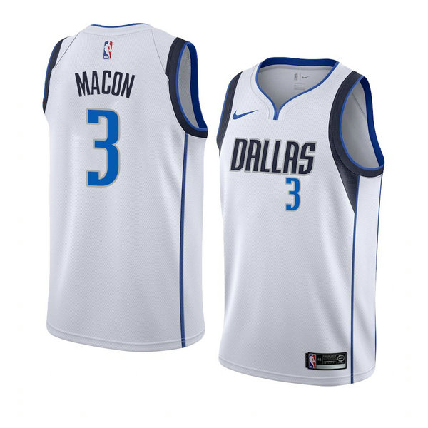 Camiseta Daryl Macon Dallas Mavericks Association 2018-19 Hombre Blanco