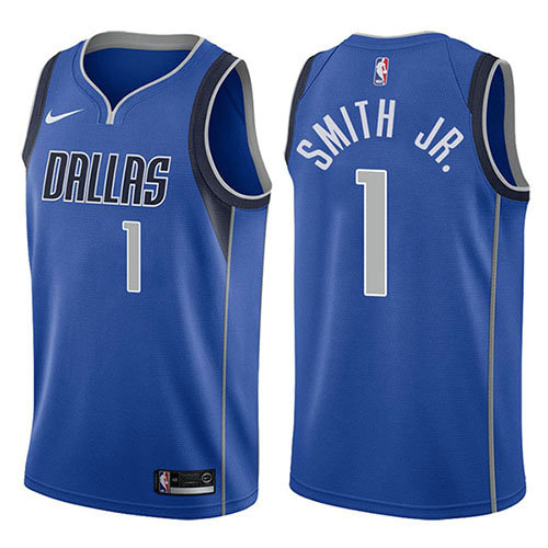 Camiseta Dennis Smith JR. Dallas Mavericks Icon 2017-18 Hombre Azul