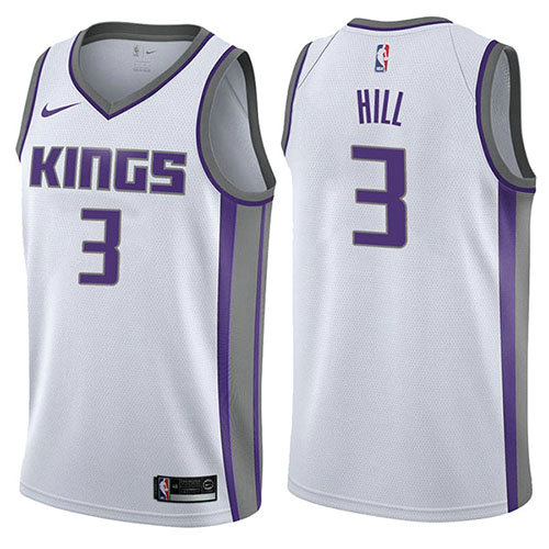 Camiseta George Hill Sacramento Kings Association 2017-18 Hombre Blanco