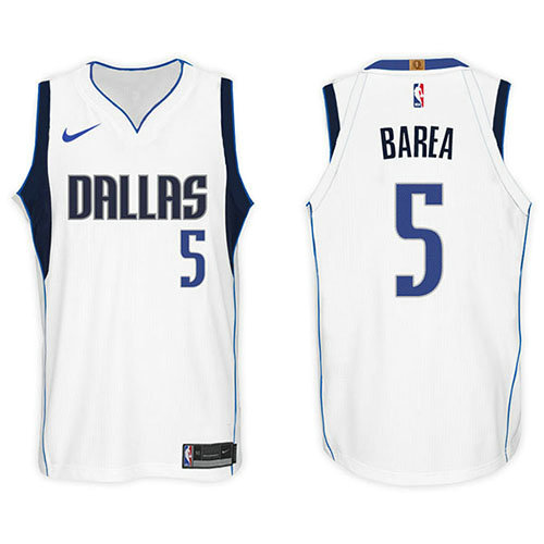 Camiseta J.j. Barea Dallas Mavericks 2017-18 Hombre Blanco