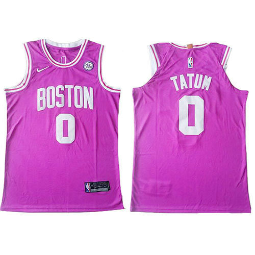 Camiseta Jayson Tatum Boston Celtics Authentic Hombre Rosa