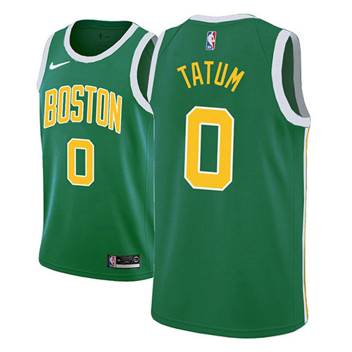 Camiseta Jayson Tatum Boston Celtics Earned 2018-19 Hombre Verde