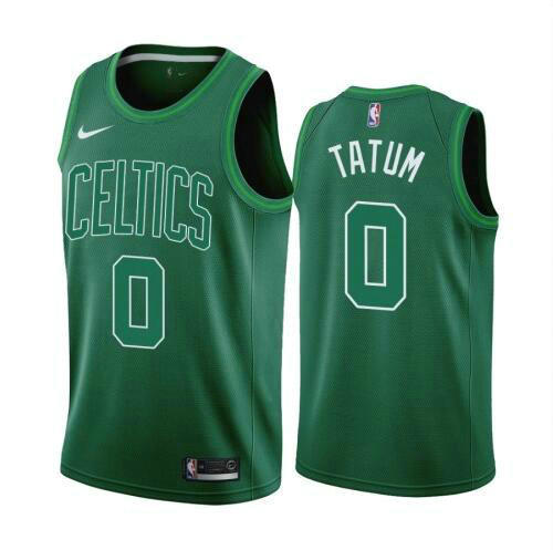 Camiseta Jayson Tatum No 0 Boston Celtics 2020-21 Earned Edition Swingman Hombre negro