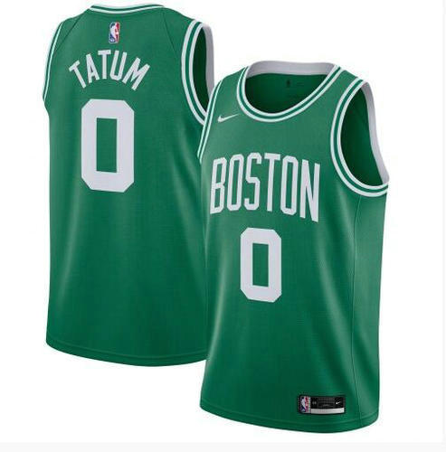 Camiseta Jayson Tatum No 0 Boston Celtics 2020-21 Icon Edition Swingman Hombre verde