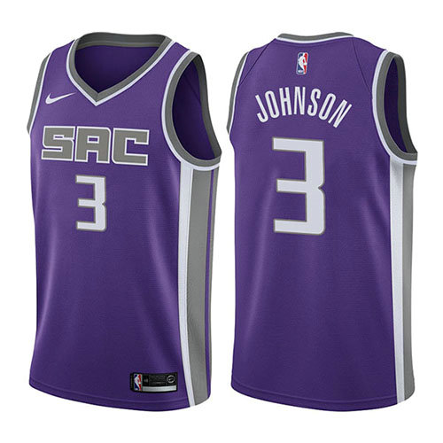 Camiseta Joe Johnson Sacramento Kings Icon 2017-18 Hombre Púrpura