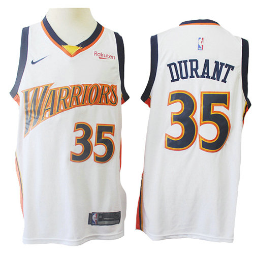 Camiseta Kevin Durant Golden State Warriors Mitchell & Ness Hombre Blanco