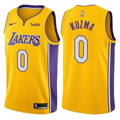 Camiseta Kyle Kuzma Los Angeles Lakers 2017-18 Hombre Amarillo