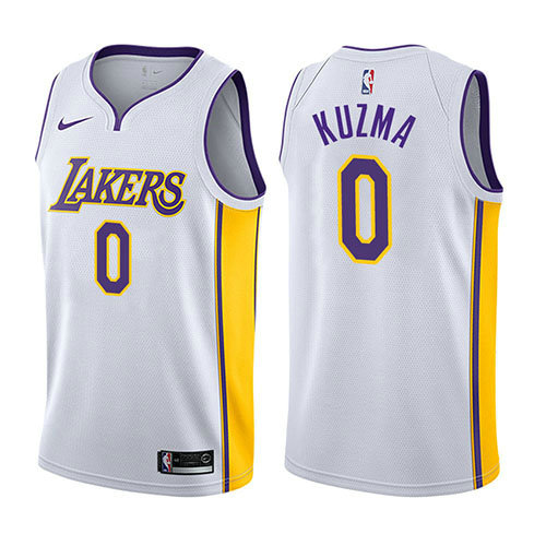 Camiseta Kyle Kuzma Los Angeles Lakers 2017-18 Hombre Blanco