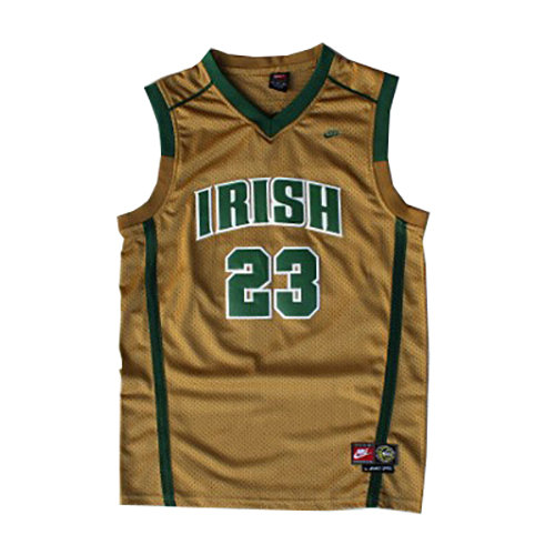 Camiseta LeBron James St. Vincent-St. Mary Hombre Oro