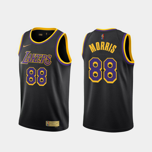 Camiseta Markieff Morris No 88 Los Angeles Lakers 2020-21 Earned Edition Hombre negro