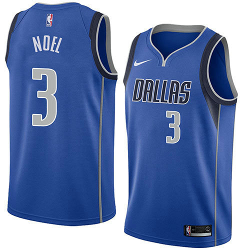 Camiseta Nerlens Noel Dallas Mavericks Icon 2018 Hombre Azul