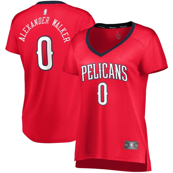 Camiseta Nickeil Alexander-Walker No 0 New Orleans Pelicans statement edition Mujer Rojo