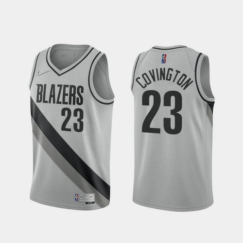 Camiseta Robert Covington No 23 Portland Trail Blazers 2020-21 Earned Edition Hombre gris