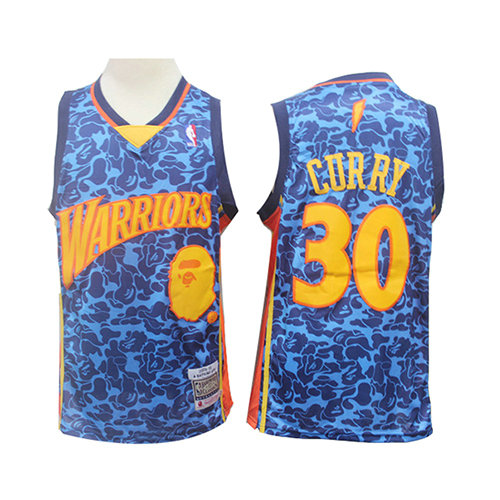 Camiseta Stephen Curry Golden State Warriors Mitchell & Ness Hombre Azul