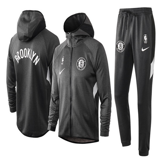 Chandal No Nike Brooklyn Nets nba Showtime Hombre Gris