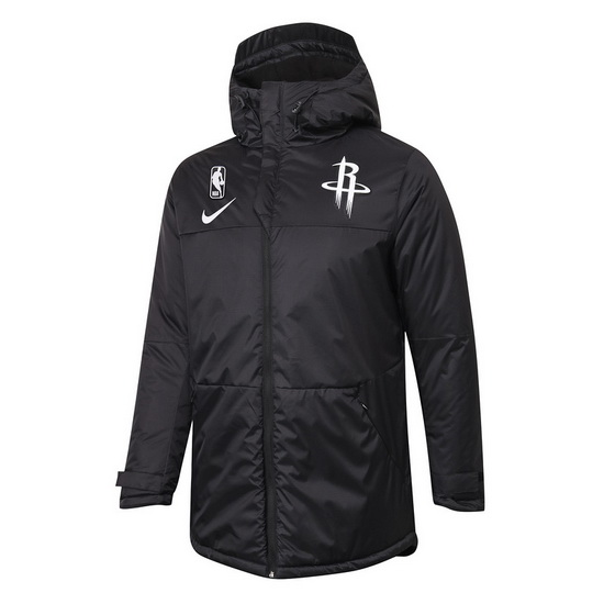 Chaqueta de algodon No Nike Houston Rockets nba 2021 Hombre Negro