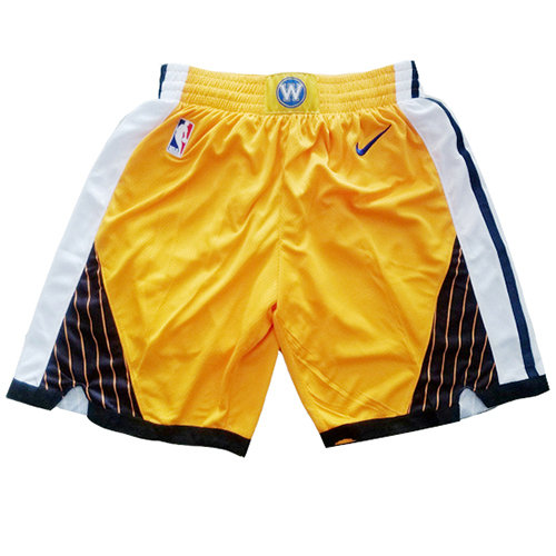 Pantalones Cortos Golden State Warriors Earned 2018-19 Hombre Amarillo
