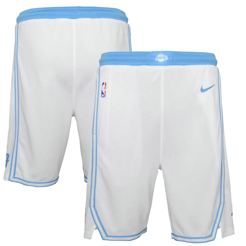 Pantalones Cortos Los Angeles Lakers city 2020-21 City Edition Hombre blanco